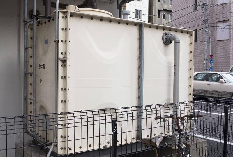貯水槽の清掃・給水設備の点検、補修、更新